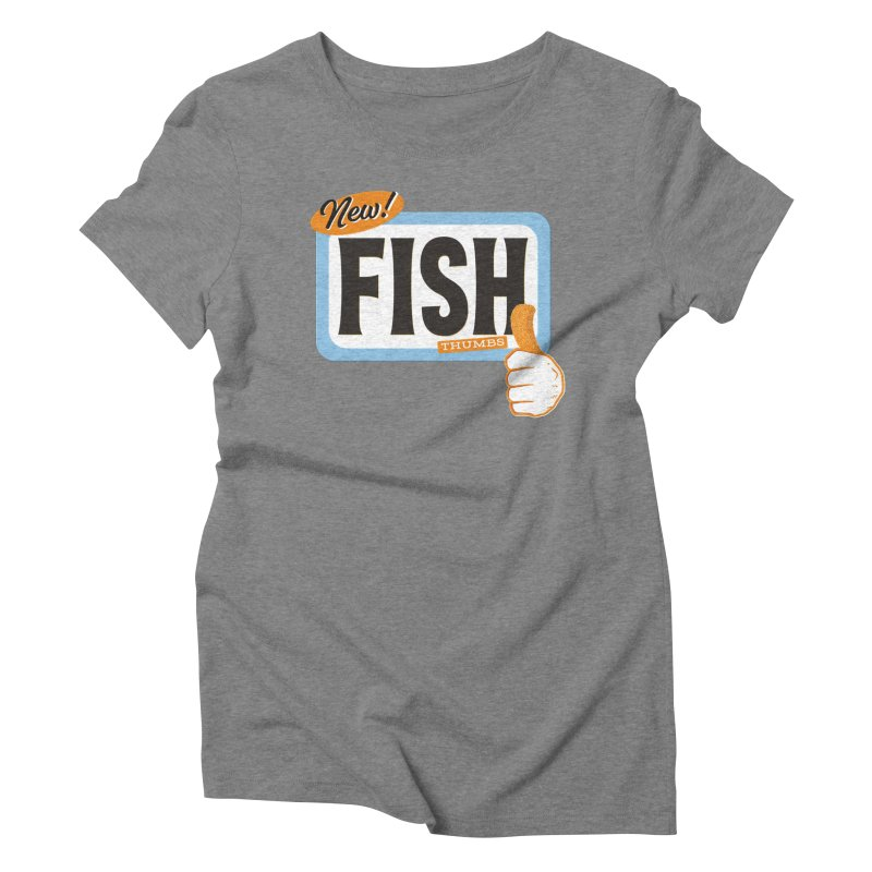 Fish Thumbs Women's Triblend T-Shirt by The Artist Shop of Ben Stevens