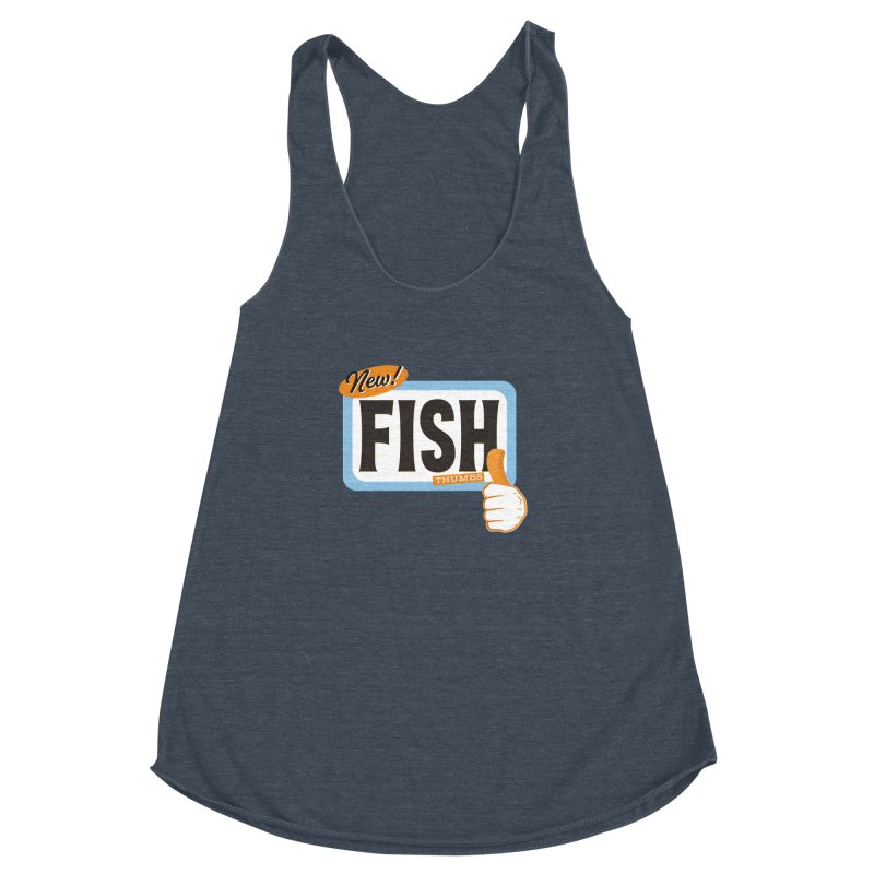 Fish Thumbs Women's Racerback Triblend Tank by The Artist Shop of Ben Stevens