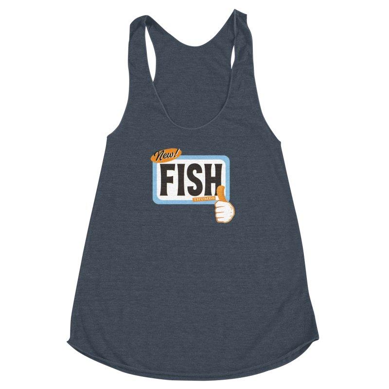 Fish Thumbs Women's Racerback Triblend Tank by The Artist Shop of Ben Stevens