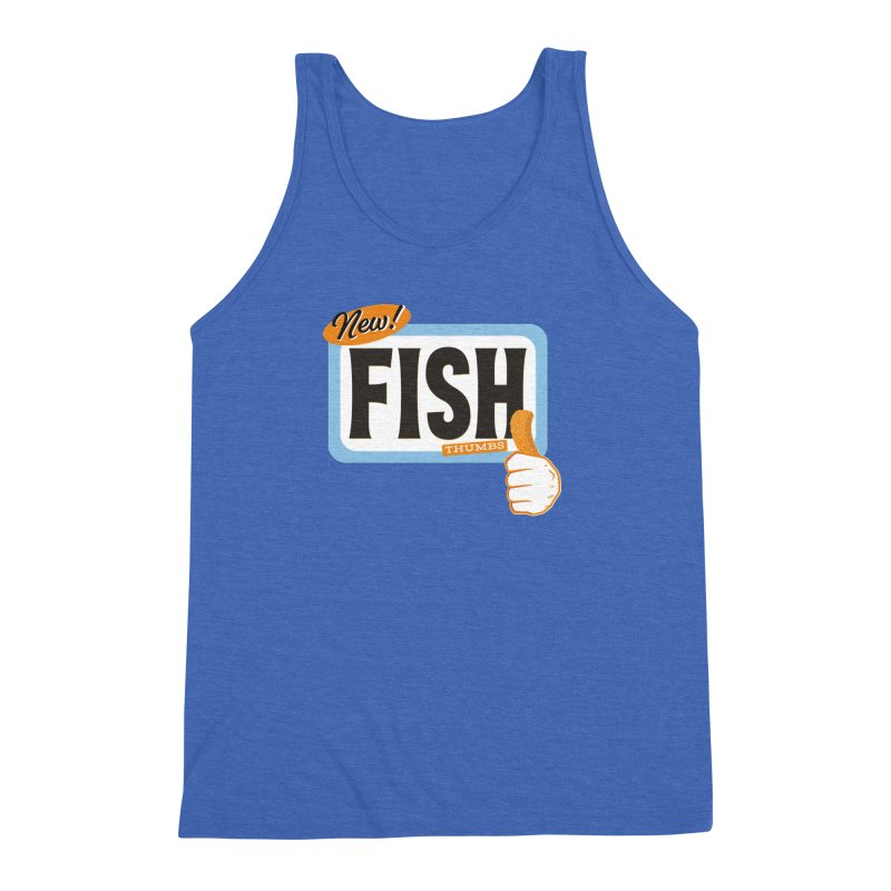 Fish Thumbs Men's Triblend Tank by The Artist Shop of Ben Stevens