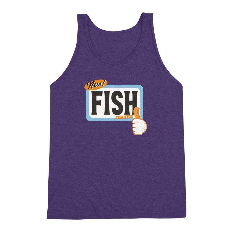 Fish Thumbs Men's Triblend Tank by The Artist Shop of Ben Stevens
