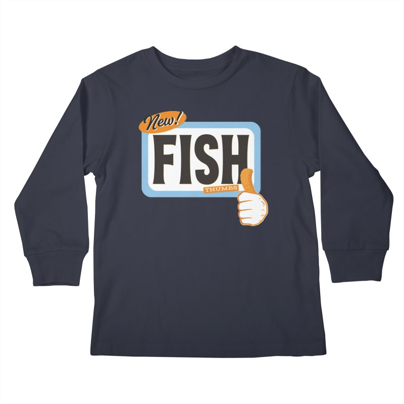 Fish Thumbs Kids Longsleeve T-Shirt by The Artist Shop of Ben Stevens