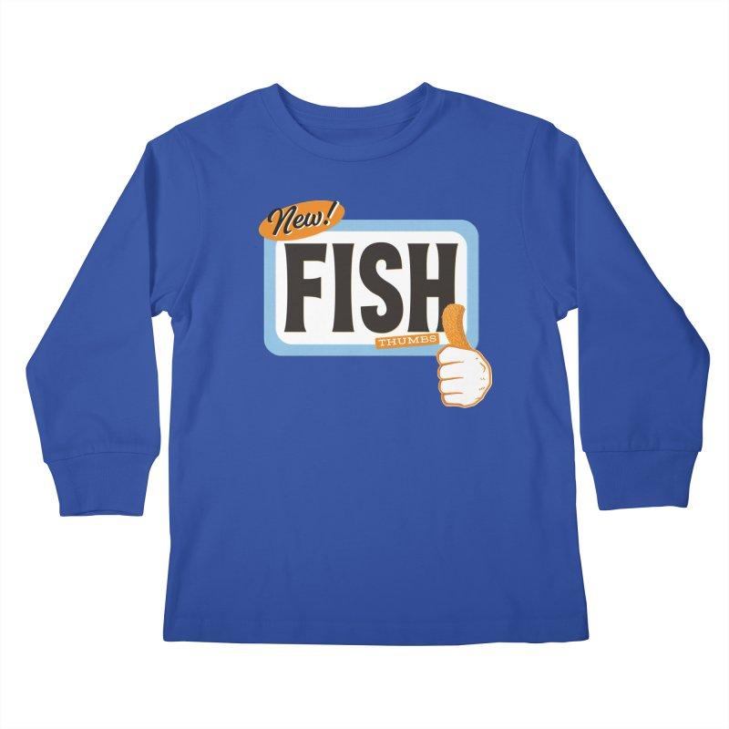 Fish Thumbs Kids Longsleeve T-Shirt by The Artist Shop of Ben Stevens