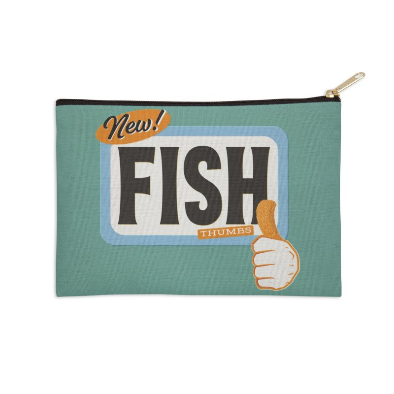 Fish Thumbs Accessories Zip Pouch by The Artist Shop of Ben Stevens