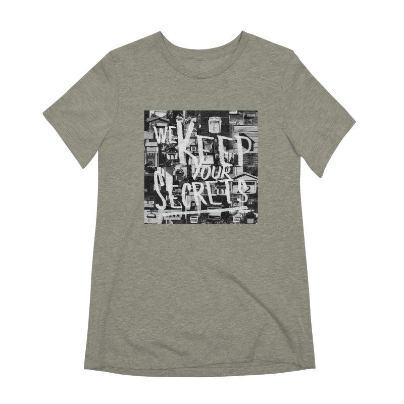We Keep Your Secrets Women's Extra Soft T-Shirt by The Artist Shop of Ben Stevens