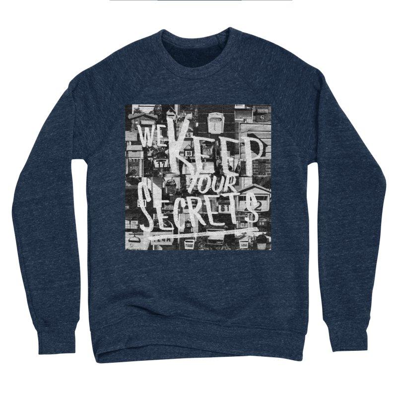 We Keep Your Secrets Men's Sponge Fleece Sweatshirt by The Artist Shop of Ben Stevens