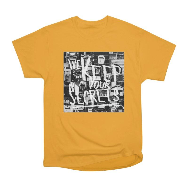 We Keep Your Secrets Men's Heavyweight T-Shirt by The Artist Shop of Ben Stevens