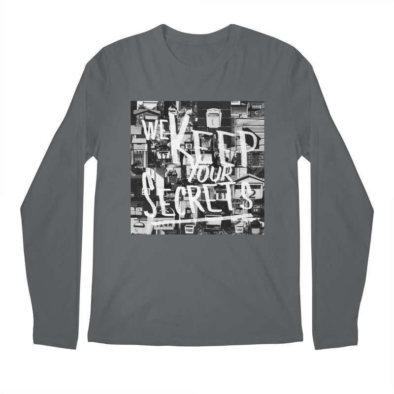 We Keep Your Secrets Men's Regular Longsleeve T-Shirt by The Artist Shop of Ben Stevens