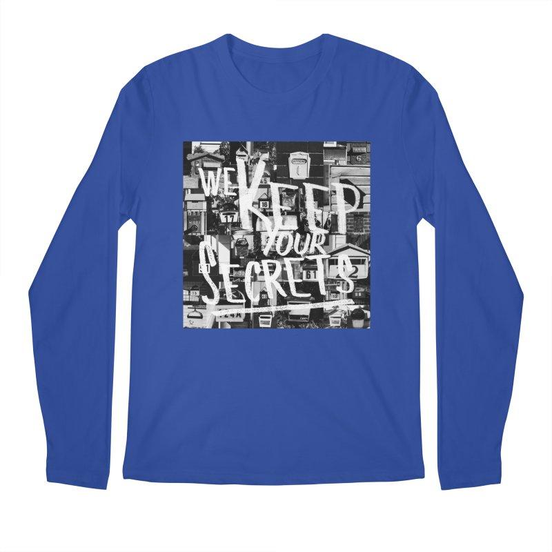 We Keep Your Secrets Men's Regular Longsleeve T-Shirt by The Artist Shop of Ben Stevens
