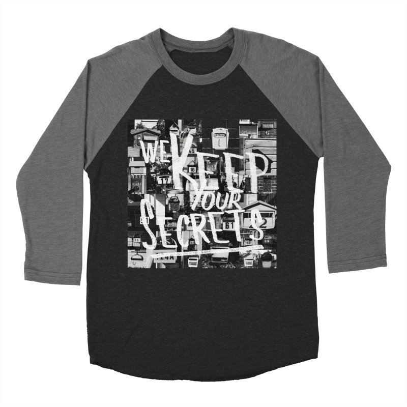 We Keep Your Secrets Men's Baseball Triblend Longsleeve T-Shirt by The Artist Shop of Ben Stevens