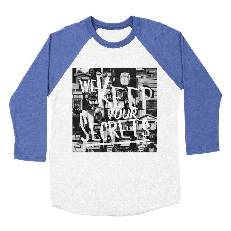 We Keep Your Secrets Men's Baseball Triblend Longsleeve T-Shirt by The Artist Shop of Ben Stevens
