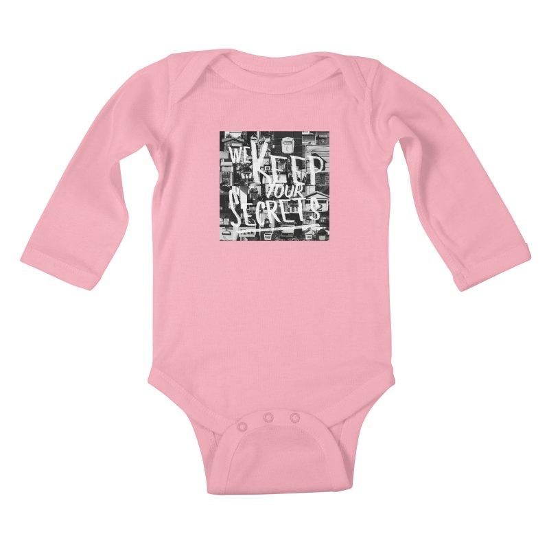 We Keep Your Secrets Kids Baby Longsleeve Bodysuit by The Artist Shop of Ben Stevens