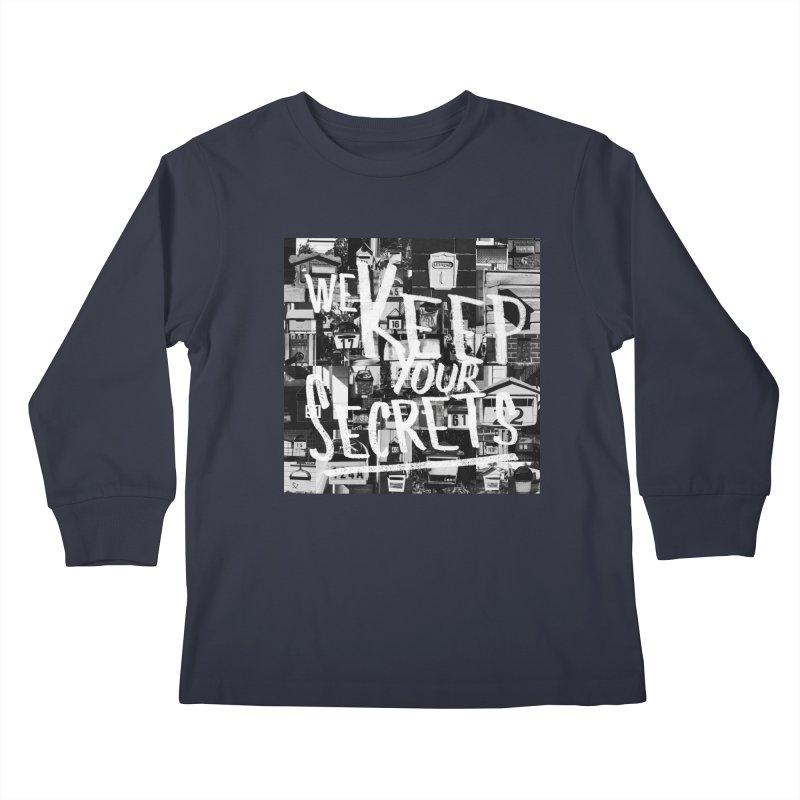 We Keep Your Secrets Kids Longsleeve T-Shirt by The Artist Shop of Ben Stevens