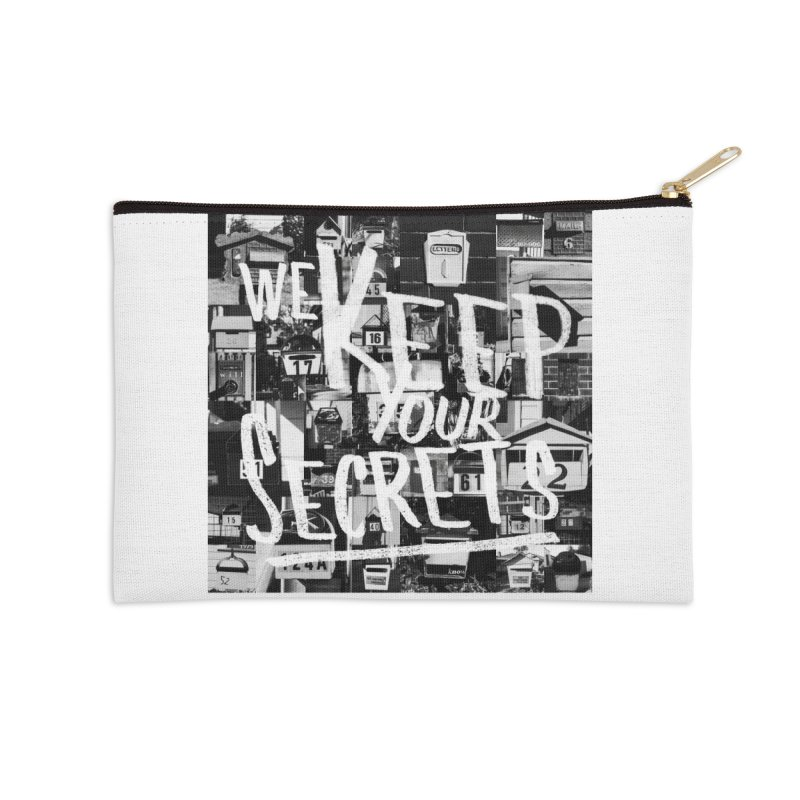 We Keep Your Secrets Accessories Zip Pouch by The Artist Shop of Ben Stevens