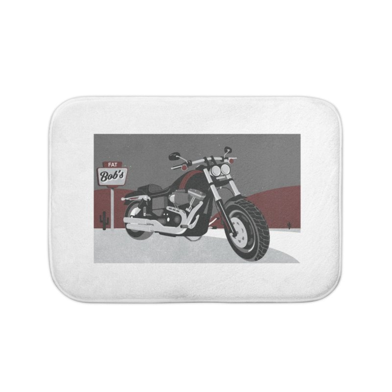 Stoppin' at Fat Bob's Home Bath Mat by The Artist Shop of Ben Stevens