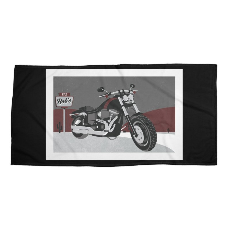 Stoppin' at Fat Bob's Accessories Beach Towel by The Artist Shop of Ben Stevens