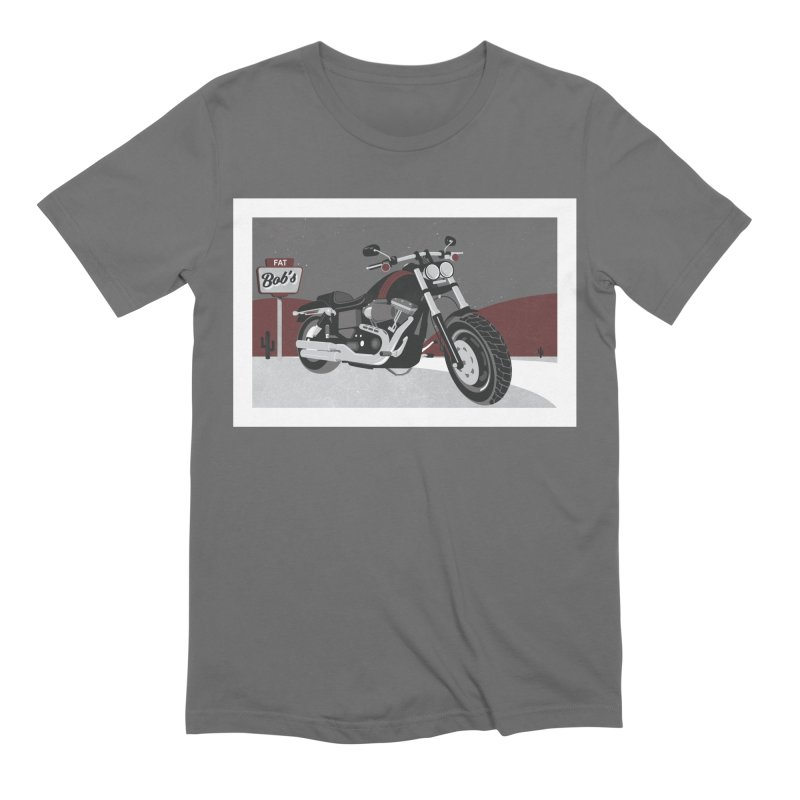 Stoppin' at Fat Bob's Men's Extra Soft T-Shirt by The Artist Shop of Ben Stevens