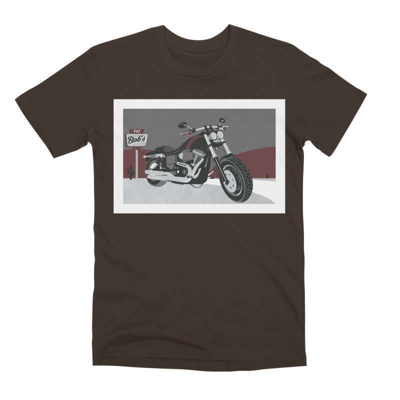Stoppin' at Fat Bob's Men's Premium T-Shirt by The Artist Shop of Ben Stevens