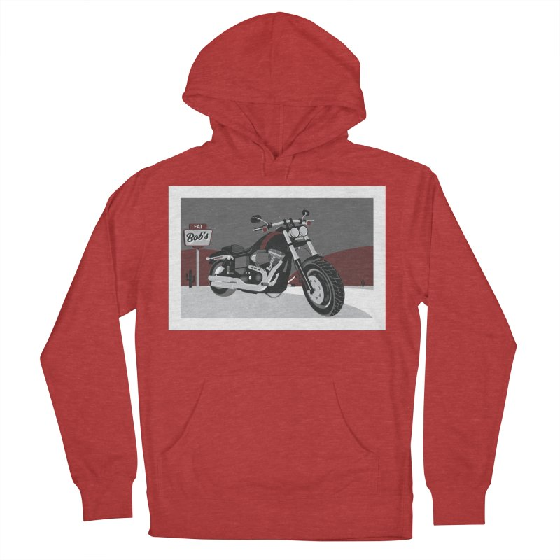 Stoppin' at Fat Bob's Women's French Terry Pullover Hoody by The Artist Shop of Ben Stevens