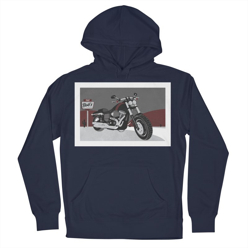 Stoppin' at Fat Bob's Men's French Terry Pullover Hoody by The Artist Shop of Ben Stevens