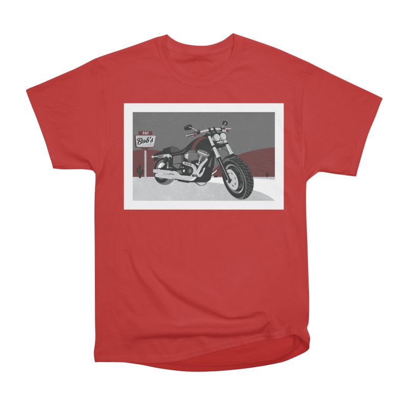 Stoppin' at Fat Bob's Men's Heavyweight T-Shirt by The Artist Shop of Ben Stevens