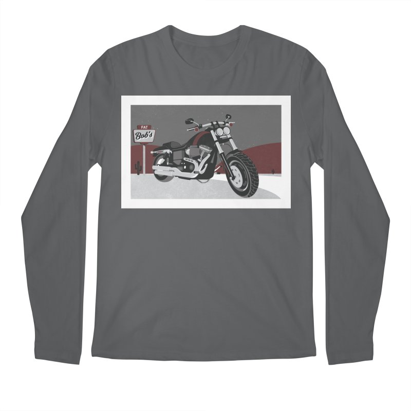 Stoppin' at Fat Bob's Men's Longsleeve T-Shirt by The Artist Shop of Ben Stevens