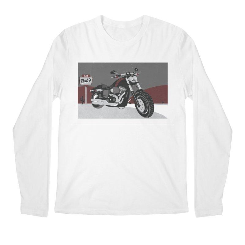 Stoppin' at Fat Bob's Men's Regular Longsleeve T-Shirt by The Artist Shop of Ben Stevens