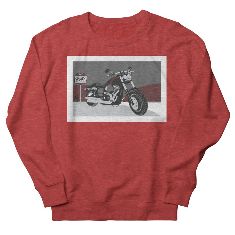 Stoppin' at Fat Bob's Women's French Terry Sweatshirt by The Artist Shop of Ben Stevens