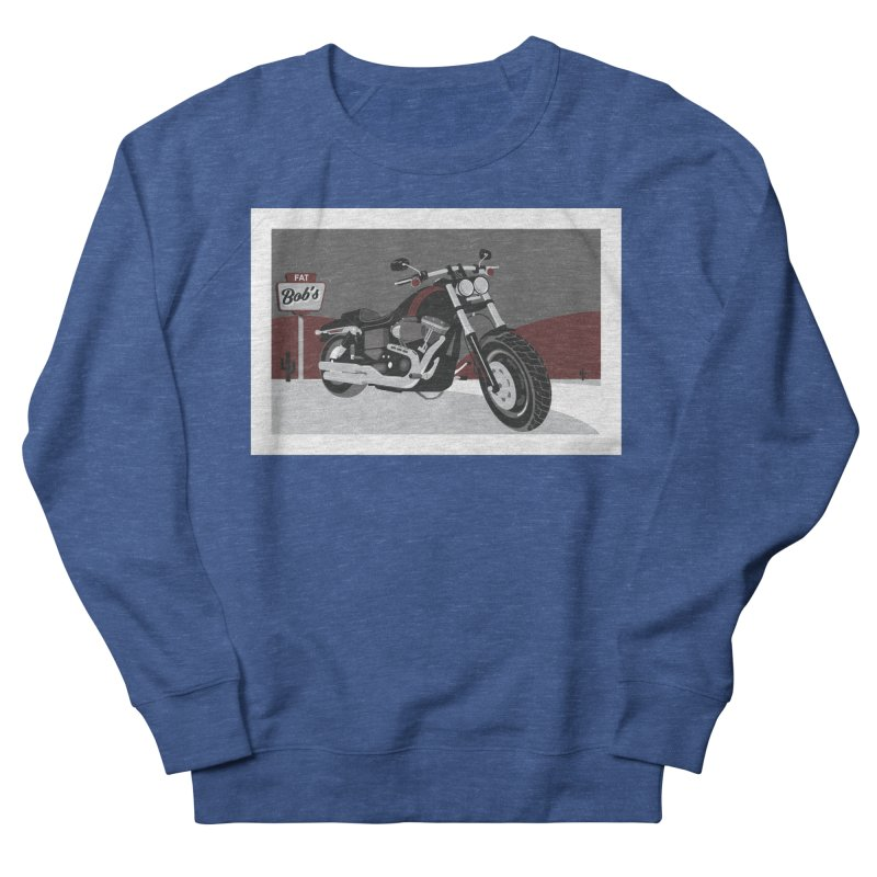 Stoppin' at Fat Bob's Men's French Terry Sweatshirt by The Artist Shop of Ben Stevens