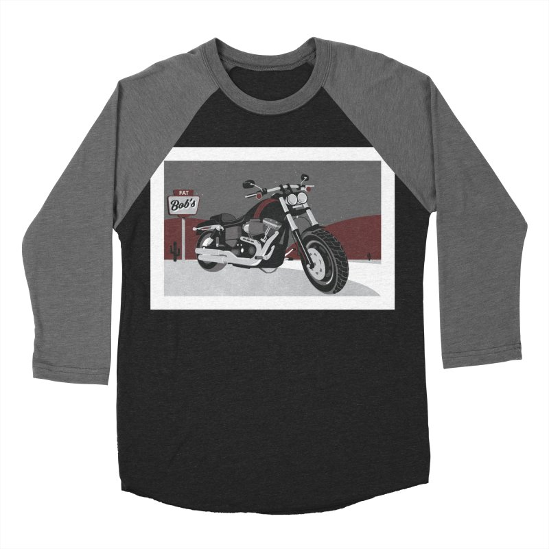 Stoppin' at Fat Bob's Women's Baseball Triblend Longsleeve T-Shirt by The Artist Shop of Ben Stevens