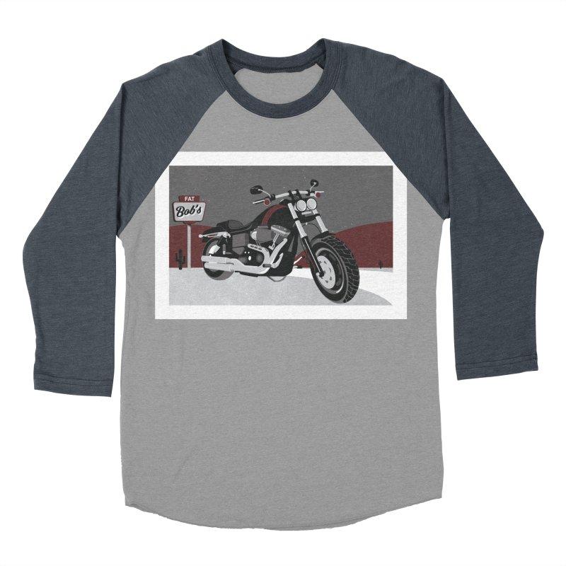 Stoppin' at Fat Bob's Women's Baseball Triblend Longsleeve T-Shirt by The Artist Shop of Ben Stevens