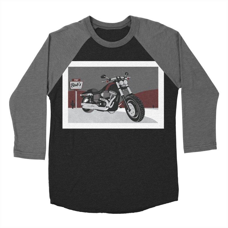 Stoppin' at Fat Bob's Men's Baseball Triblend Longsleeve T-Shirt by The Artist Shop of Ben Stevens