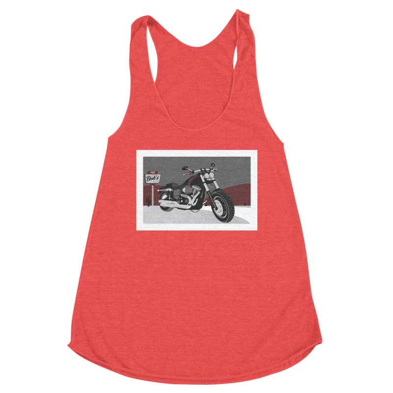 Stoppin' at Fat Bob's Women's Tank by The Artist Shop of Ben Stevens