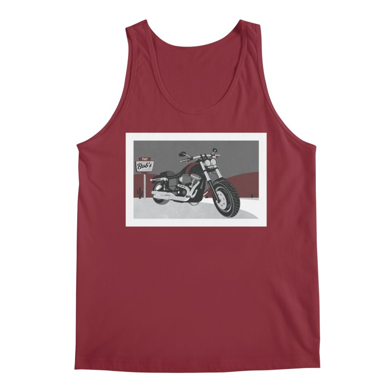 Stoppin' at Fat Bob's Men's Tank by The Artist Shop of Ben Stevens