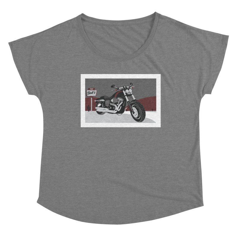 Stoppin' at Fat Bob's Women's Scoop Neck by The Artist Shop of Ben Stevens
