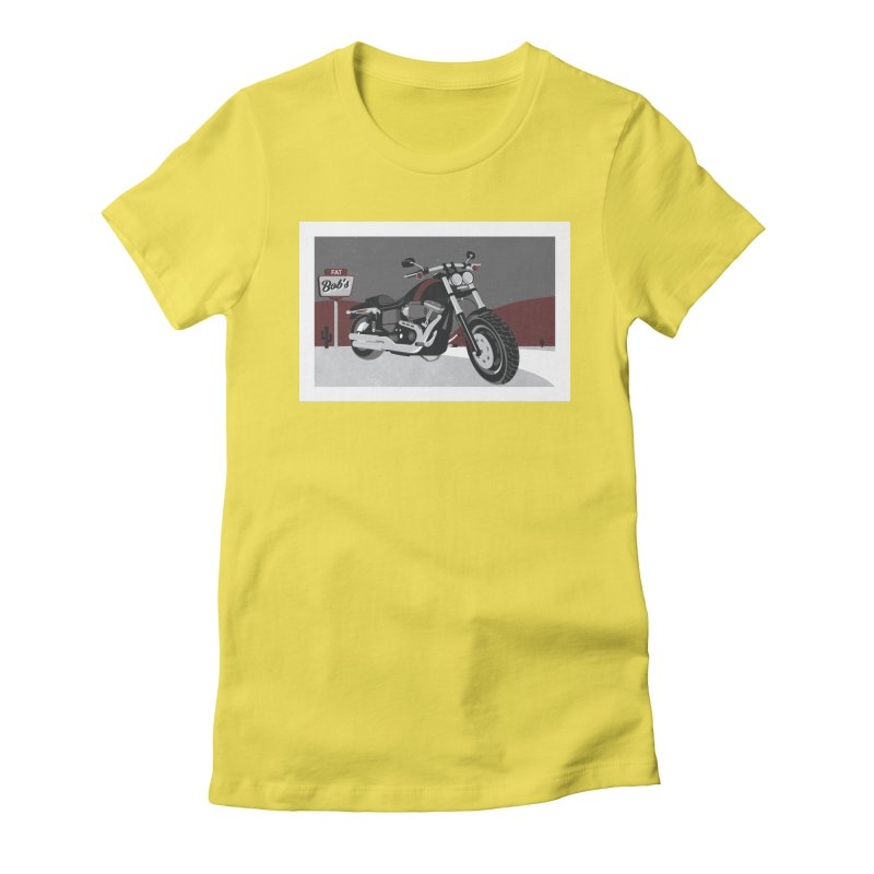 Stoppin' at Fat Bob's Women's Fitted T-Shirt by The Artist Shop of Ben Stevens