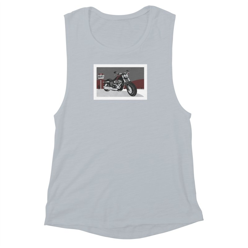 Stoppin' at Fat Bob's Women's Muscle Tank by The Artist Shop of Ben Stevens