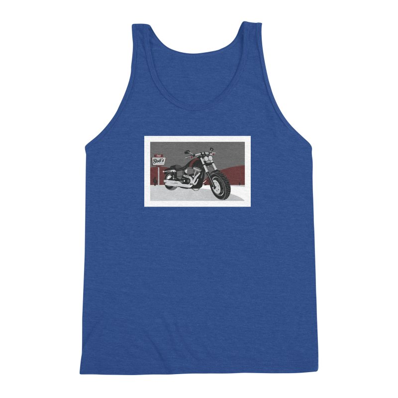 Stoppin' at Fat Bob's Men's Triblend Tank by The Artist Shop of Ben Stevens