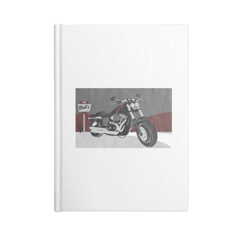 Stoppin' at Fat Bob's Accessories Notebook by The Artist Shop of Ben Stevens