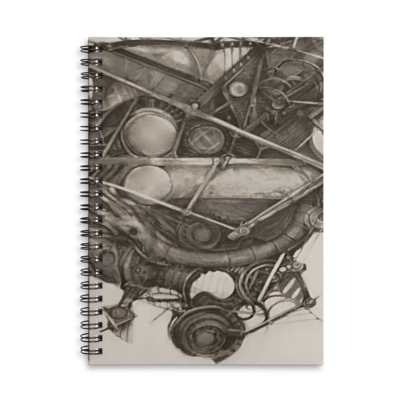 Imaginary Travel Machine in Lined Spiral Notebook by Imaginary Lands Wanderings