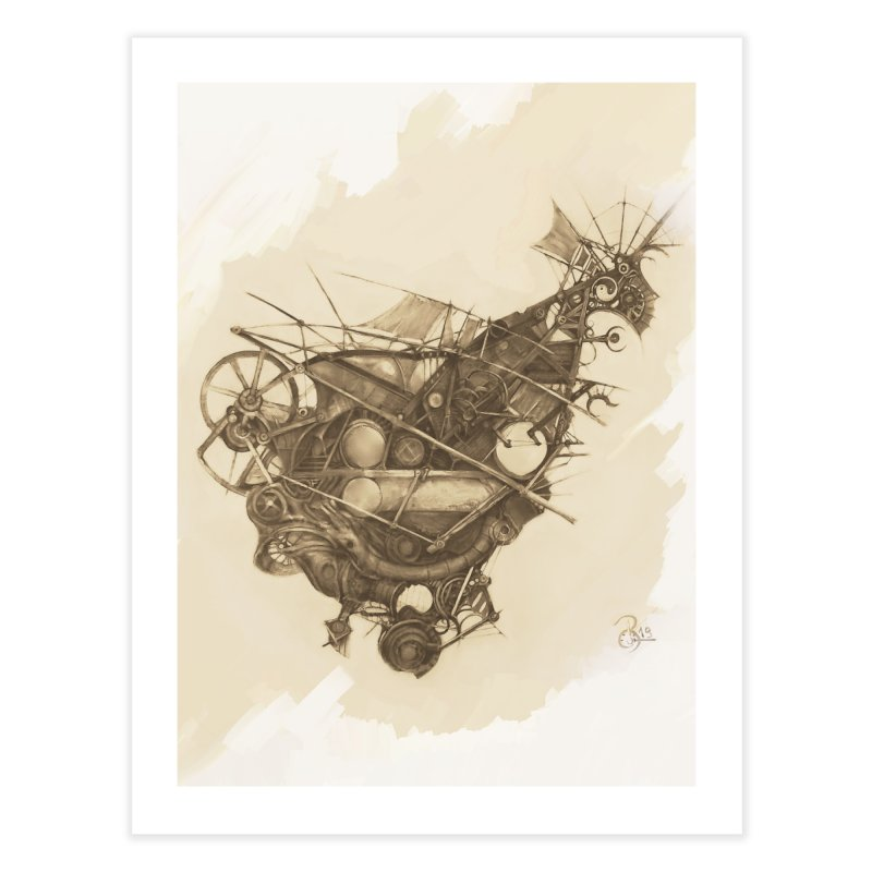 Imaginary Travel Machine in Fine Art Print by Imaginary Lands Wanderings