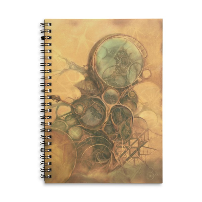 Time Compass in Lined Spiral Notebook by Imaginary Lands Wanderings