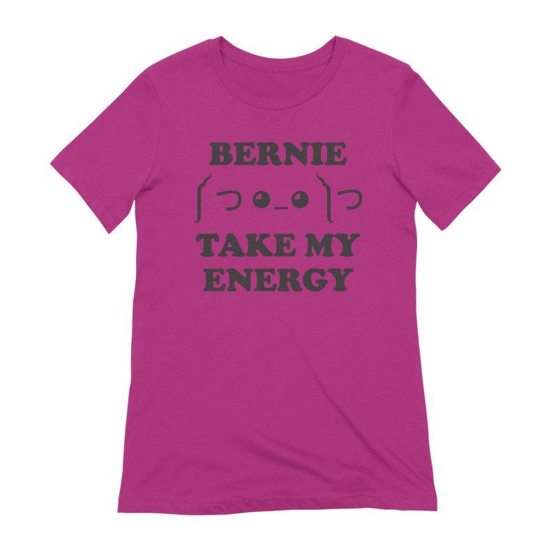 Bernie Take My Energy (Black) Women's Extra Soft T-Shirt by Bernie Threads