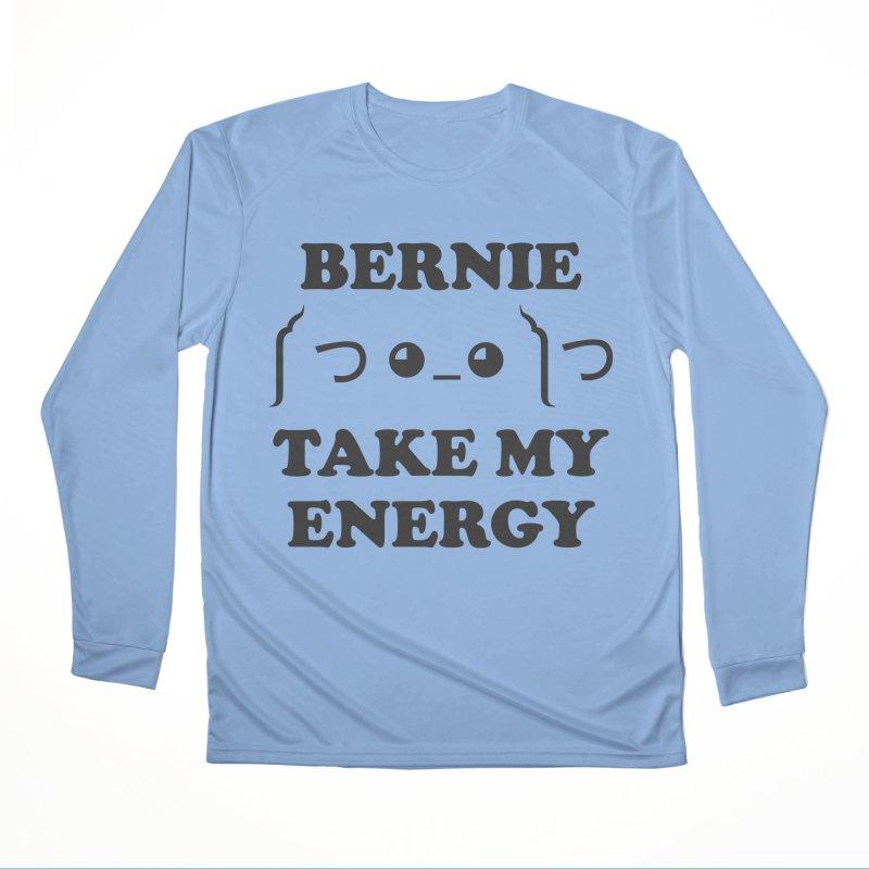 Bernie Take My Energy (Black) Men's Longsleeve T-Shirt by Bernie Threads