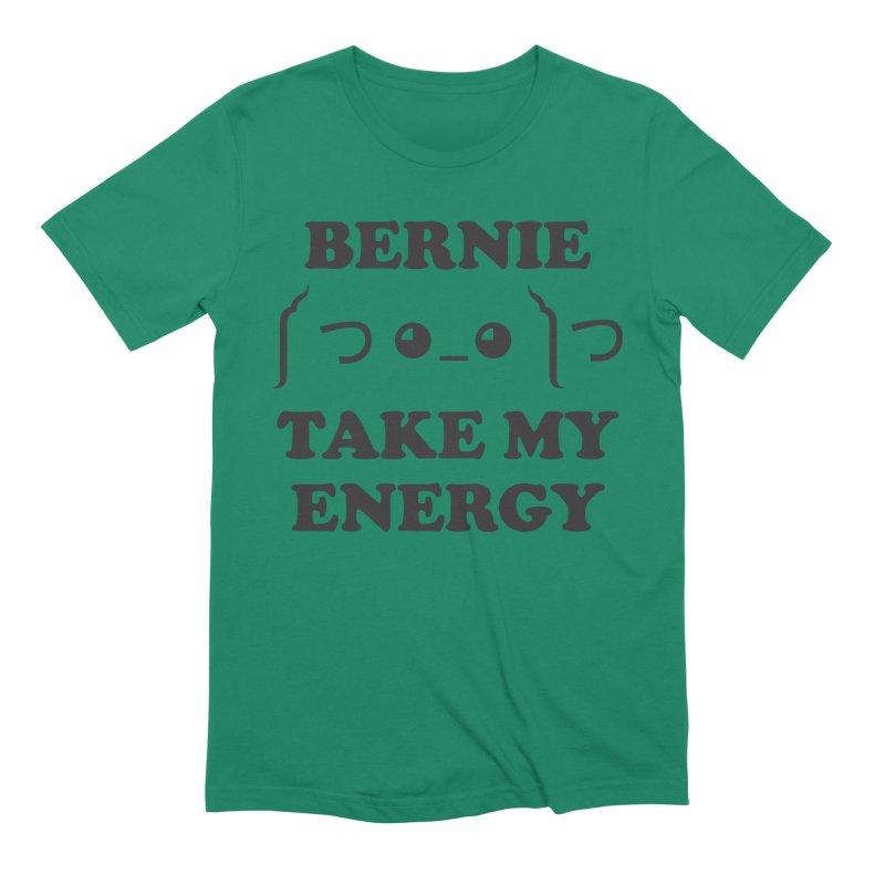 Bernie Take My Energy (Black) Men's Extra Soft T-Shirt by Bernie Threads