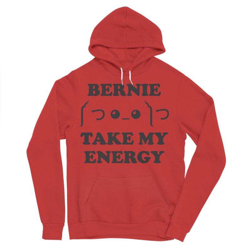 Bernie Take My Energy (Black) Men's Sponge Fleece Pullover Hoody by Bernie Threads