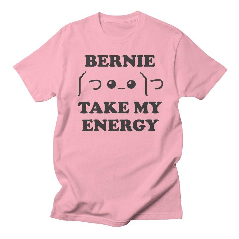 Bernie Take My Energy (Black) Men's Regular T-Shirt by Bernie Threads