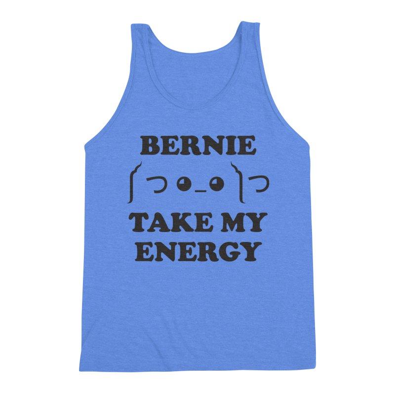 Bernie Take My Energy (Black) Men's Triblend Tank by Bernie Threads