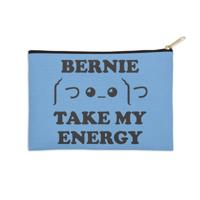 Bernie Take My Energy (Black) Accessories Zip Pouch by Bernie Threads