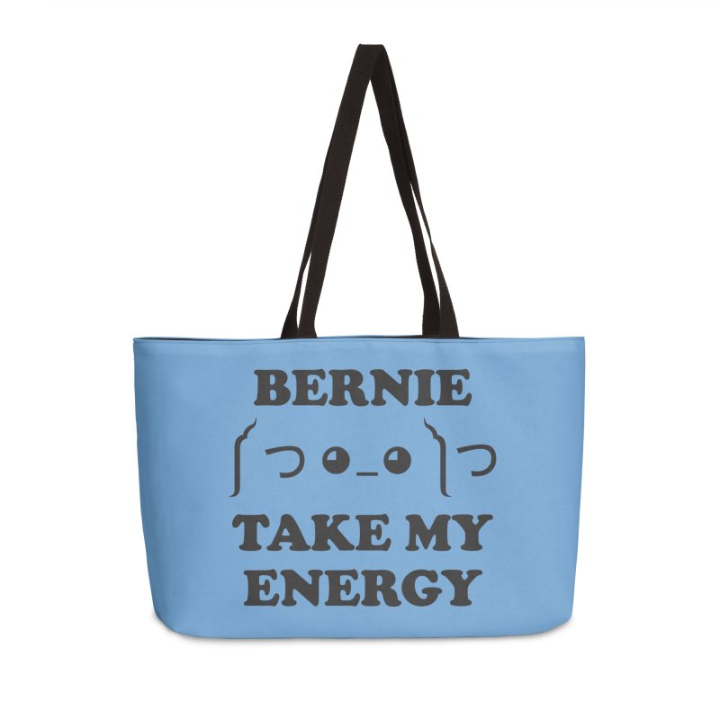 Bernie Take My Energy (Black) Accessories Weekender Bag Bag by Bernie Threads